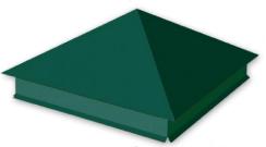 Крышка столба зеленая